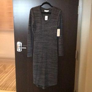 RD Style Midi Sweater Dress Charcoal
